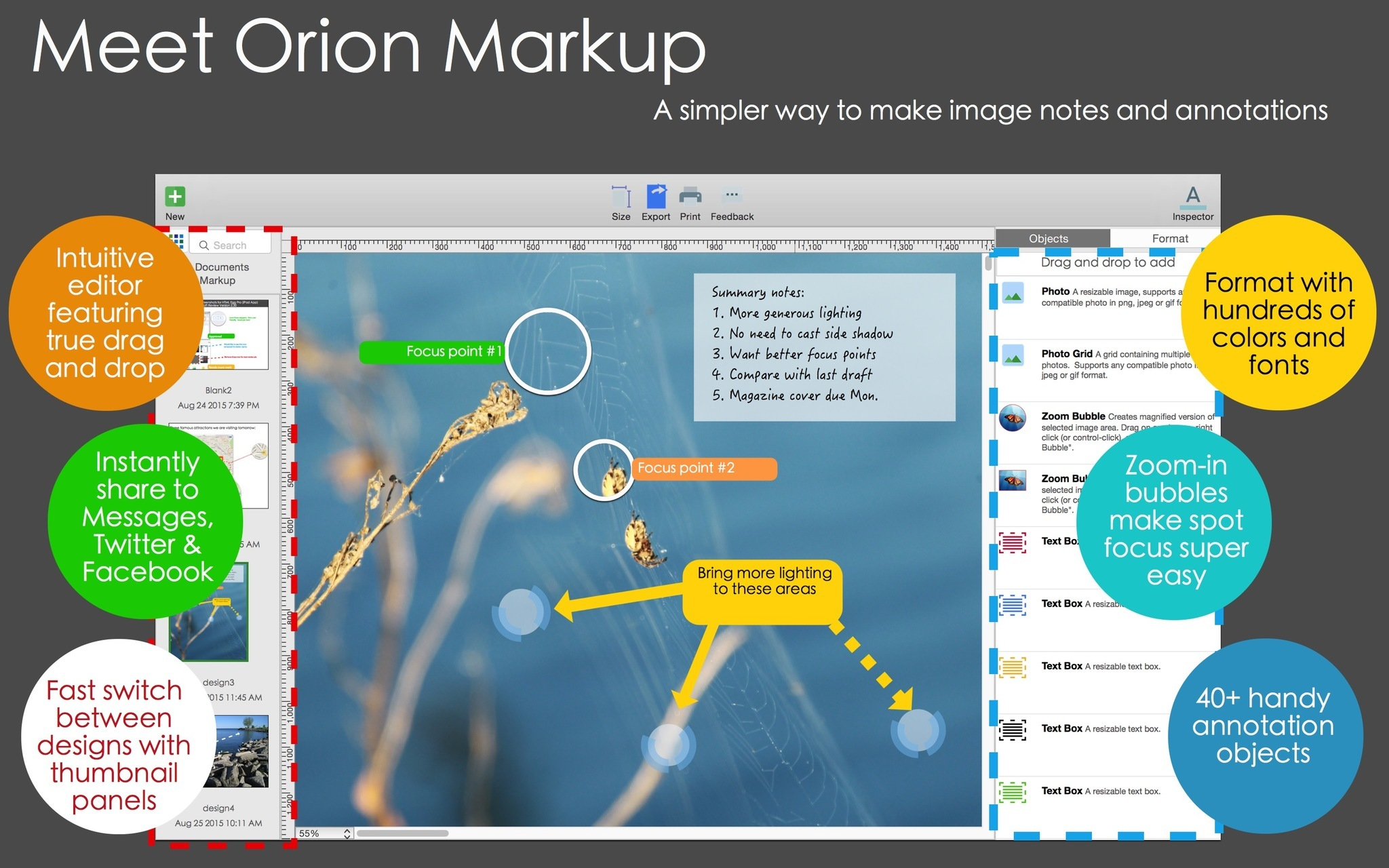 orion markup