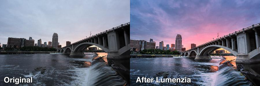 Cotton Candy on the Carlyle Before and After Lumenzia1